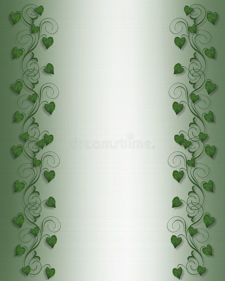 Download Ivy Border on Green Satin stock illustration. Illustration of card - 4399202