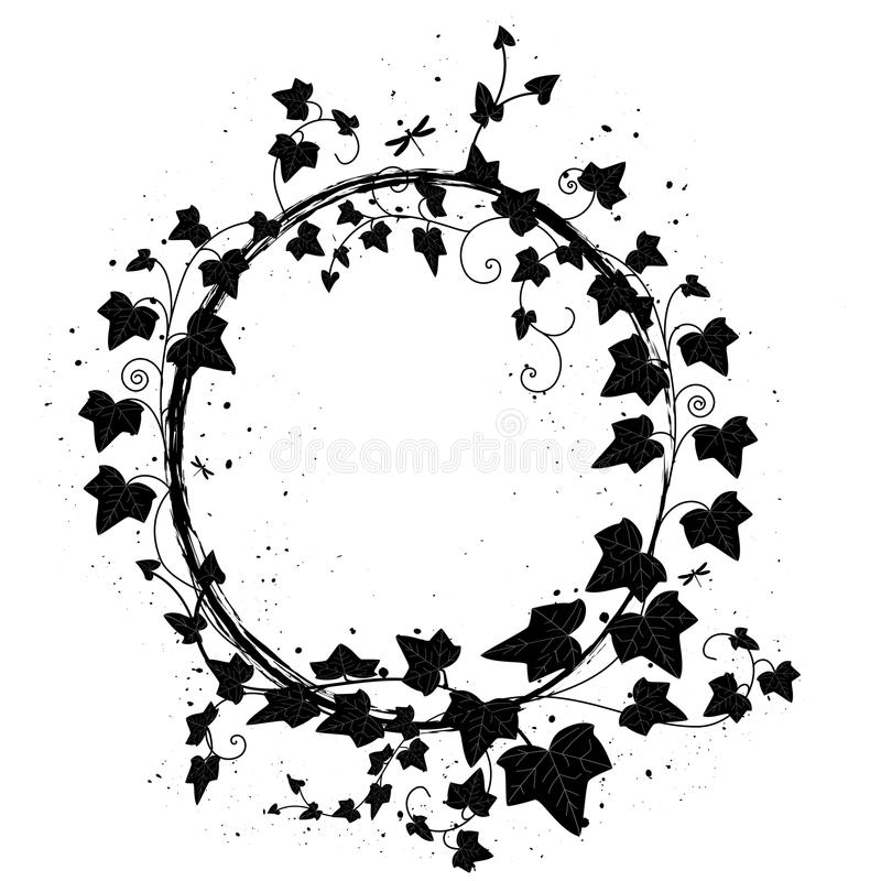 Download Ivy frame stock vector. Illustration of circle, branch - 26300395