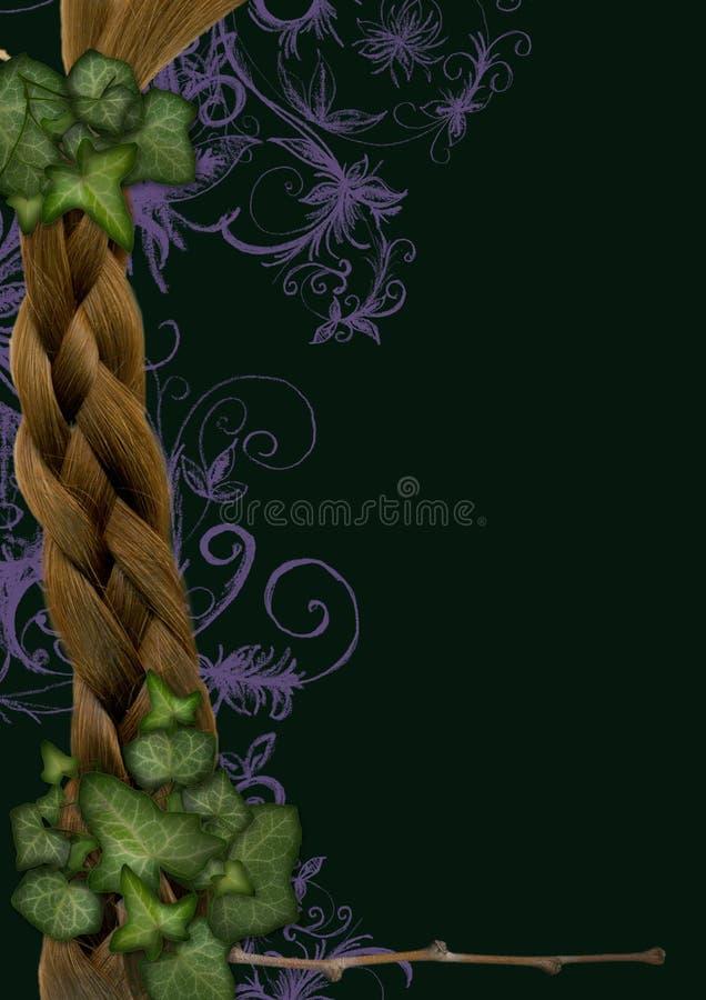 Ivy frame - fairy, elven stock illustration