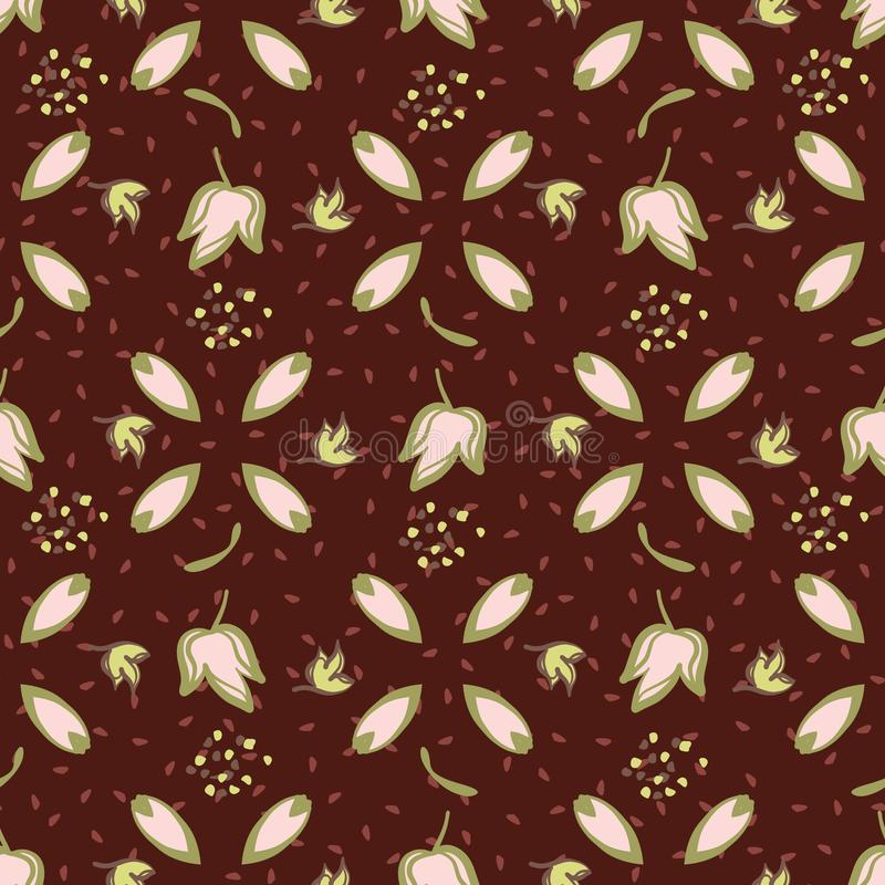 Ivy Leaf Seamless Vetora Pattern retro na moda ilustração royalty free
