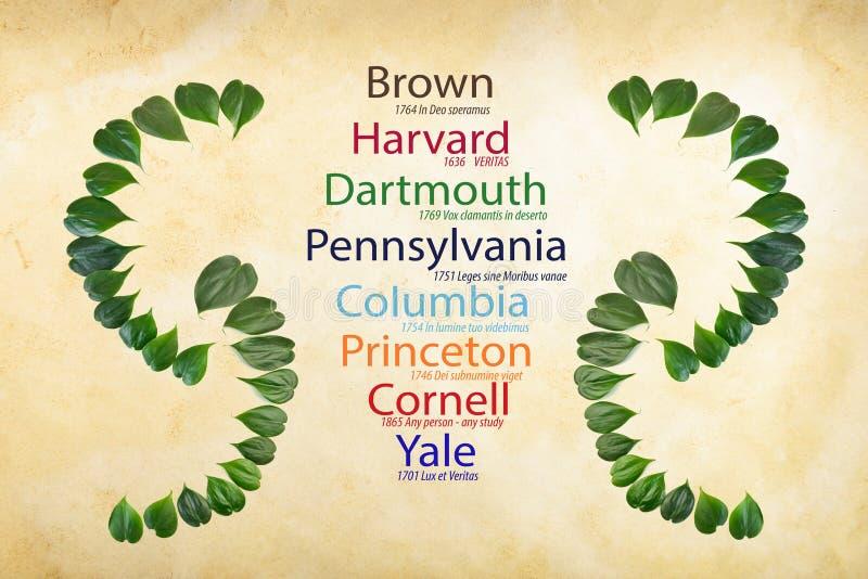 Ivy League Universities vector illustration