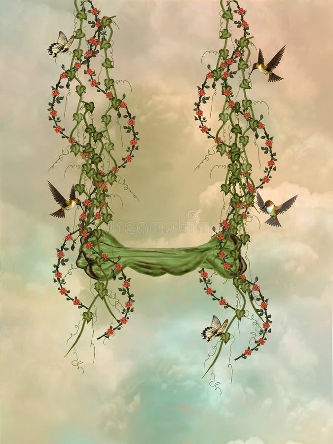Ivy swing stock illustration