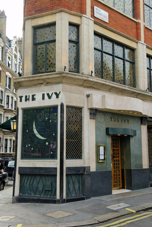 The Ivy, West Street, London, Britain royalty free stock images