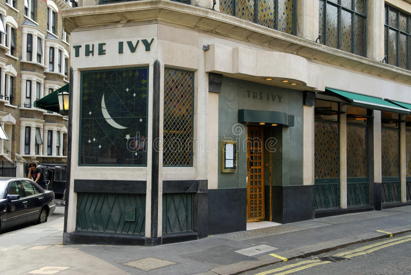 The Ivy, West Street, London, Britain royalty free stock photography