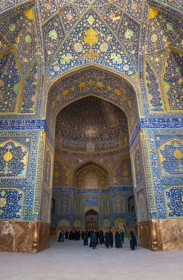 Iwan мечети имама, Isfahan, Ирана стоковые фото