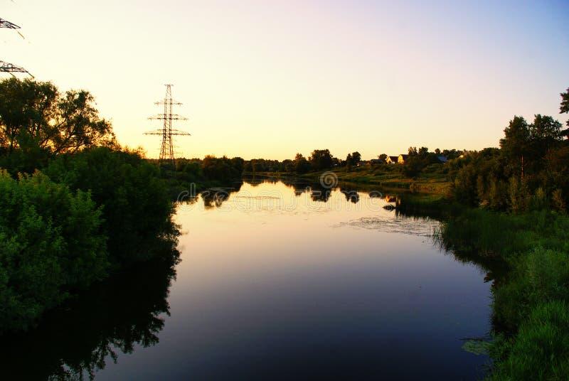 Iwanowos Fluss Uvod lizenzfreies stockfoto