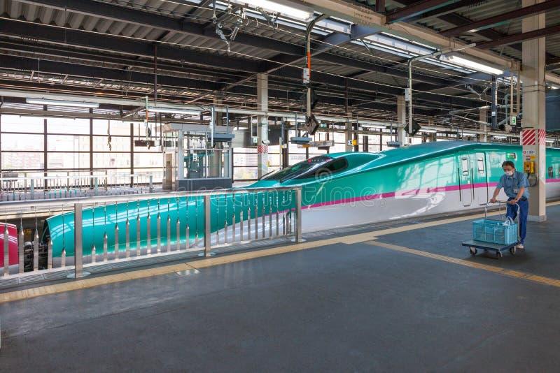 Download Iwate, Japón - Abril 27,2014: Trenes De Bala De Shinkansen De La Serie E5 Imagen editorial - Imagen de akita, rápido: 64213095
