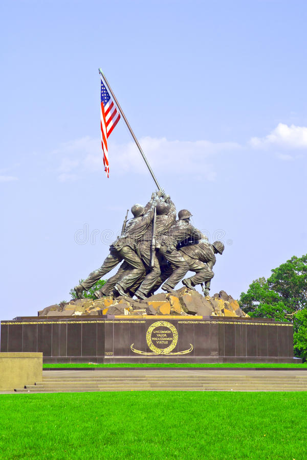 Iwo Jima a Arlington la Virginia immagine stock libera da diritti