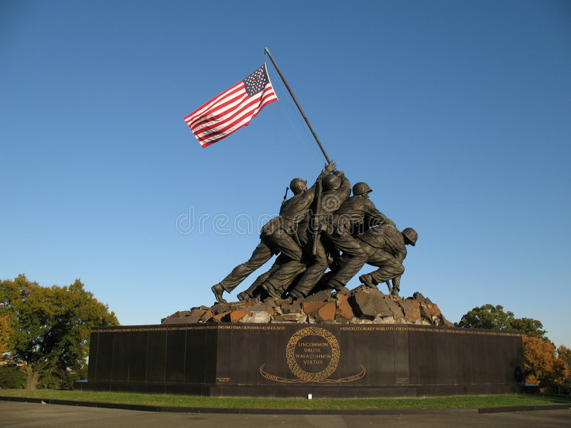 Download Iwo Jima Memorial stock image. Image of victory, wwii - 1441967