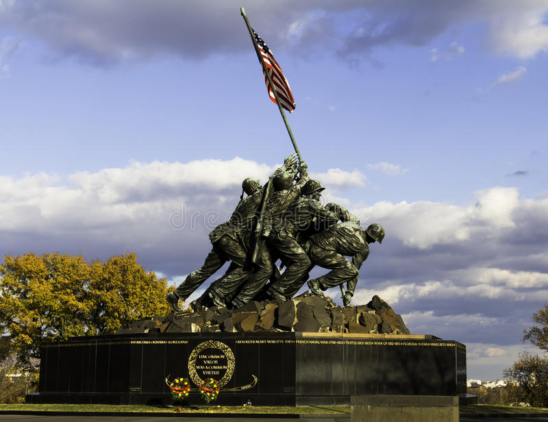 Iwo Jima Memorial fotografia stock libera da diritti