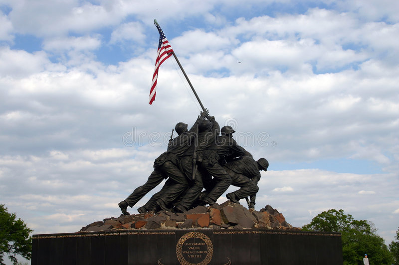 Download Iwo Jima Memorial stock image. Image of memorial, national - 975581