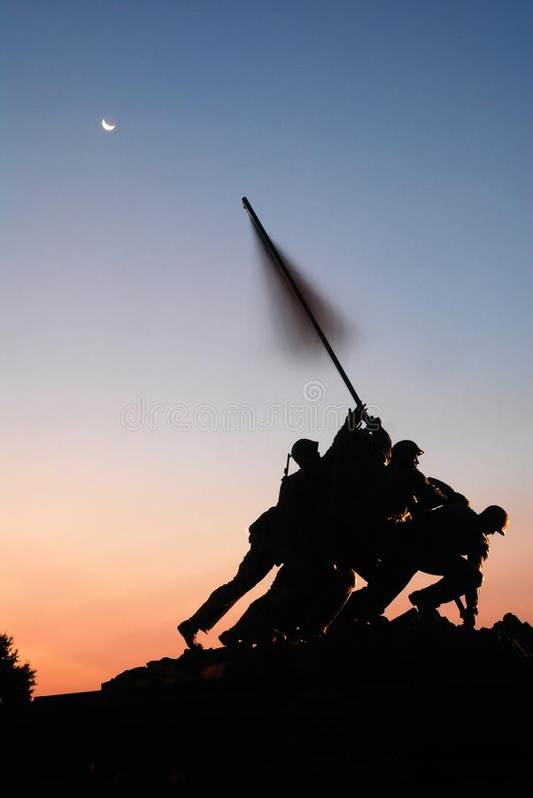 Iwo Jima Memorial, Arlington photo stock