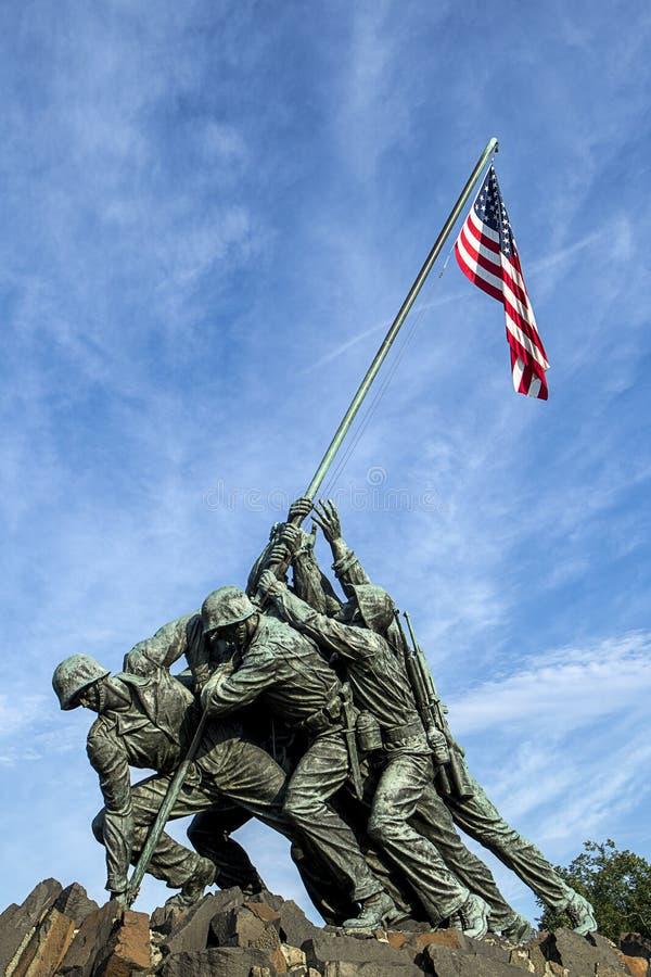 Iwo Jima memorial. royalty free stock images