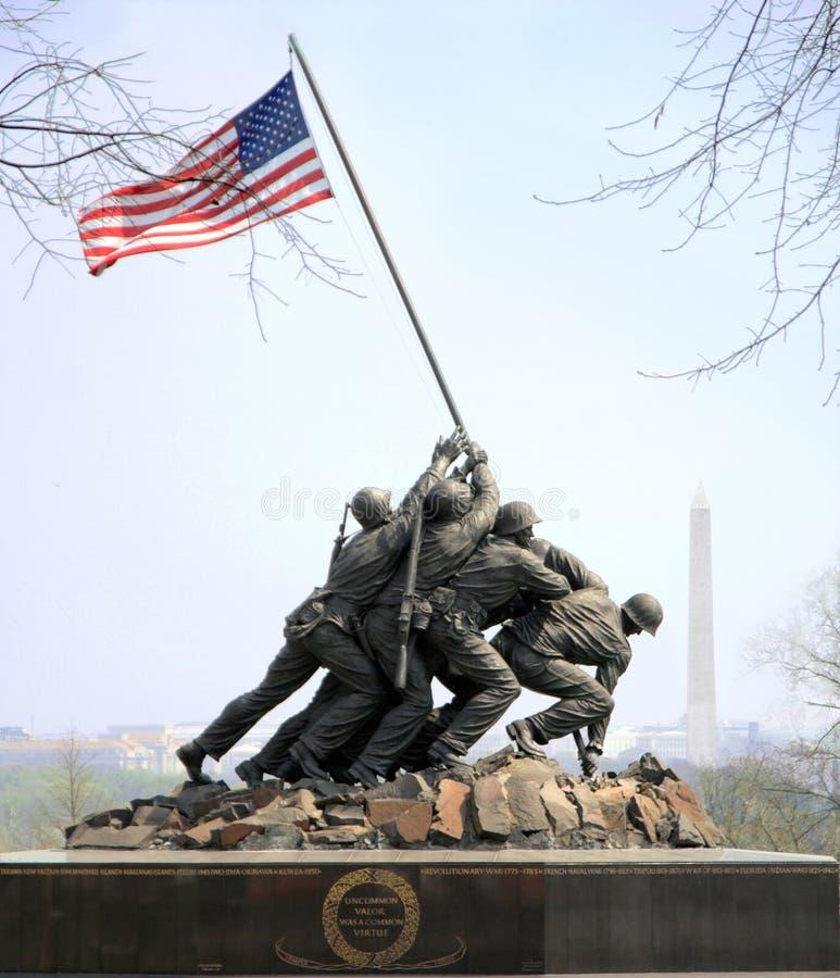 Iwo Jima minnesmärke arkivfoto