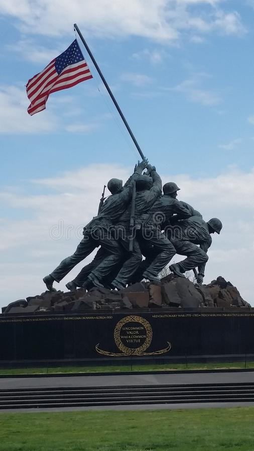 Iwo Jima minnesmärke arkivbild