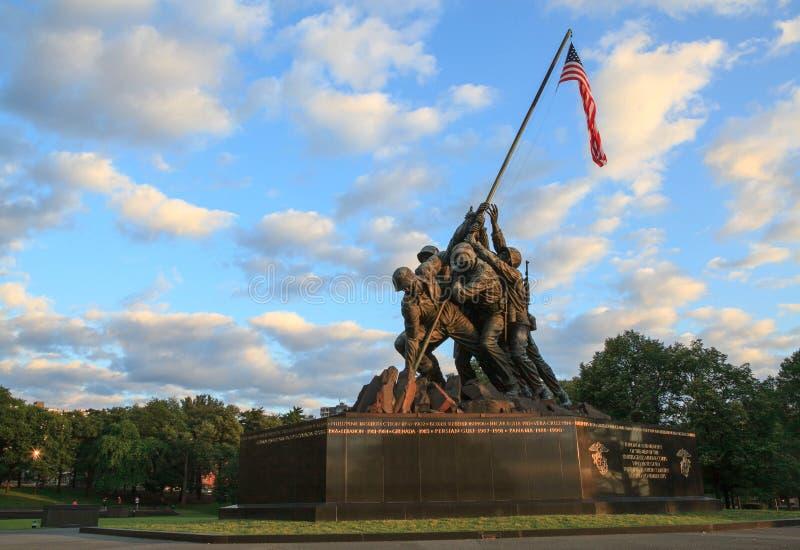 Iwo Jima Morski Pamiątkowy Arlington VA zdjęcie royalty free