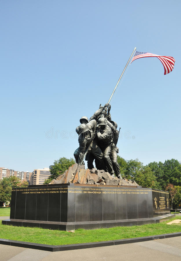 Iwo Jima pomnik w washington dc, usa obrazy royalty free