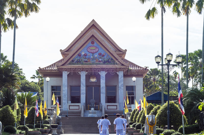 IX皇帝寺庙在曼谷,泰国 免版税库存图片