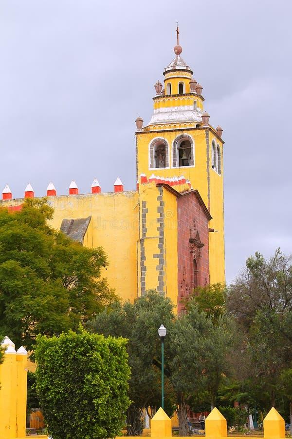 Ixmiquilpan II. San miguel arcangel convent, ixmiquilpan city, mexican state of hidalgo stock photography