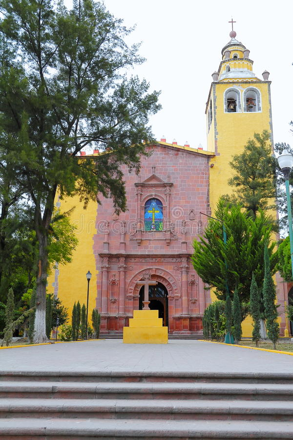 Ixmiquilpan V. San miguel arcangel convent, ixmiquilpan city, mexican state of hidalgo stock photography