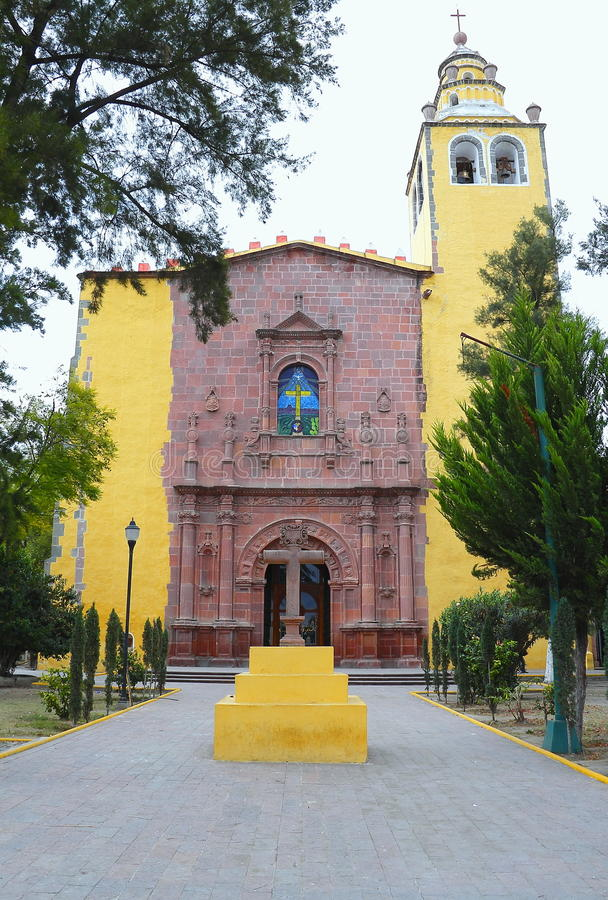 Ixmiquilpan VIII. San miguel arcangel convent, ixmiquilpan city, mexican state of hidalgo royalty free stock photos
