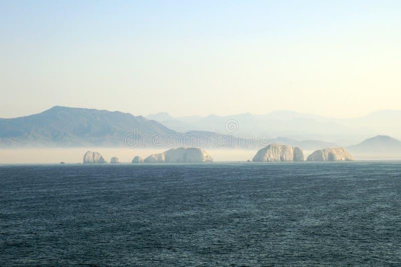 ixtapa海岸线 免版税图库摄影