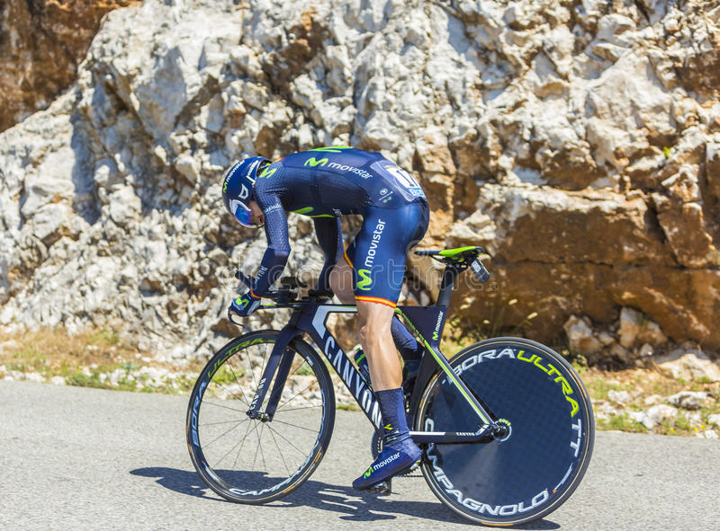 Izagirre Insausti,单独时间试验-环法自行车赛2016年 免版税库存照片