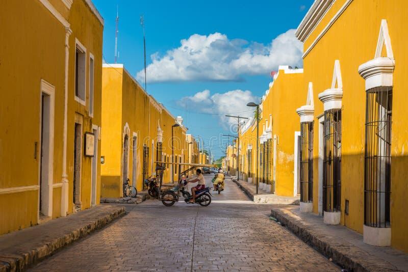 Izamal, die gelbe Kolonialstadt von Yucatan, Mexiko stockbild