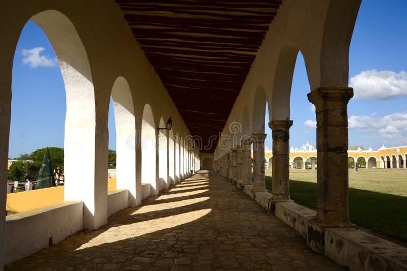 Izamal, Mexico-6 januari 2019: San Antonio Convent royalty-vrije stock foto's