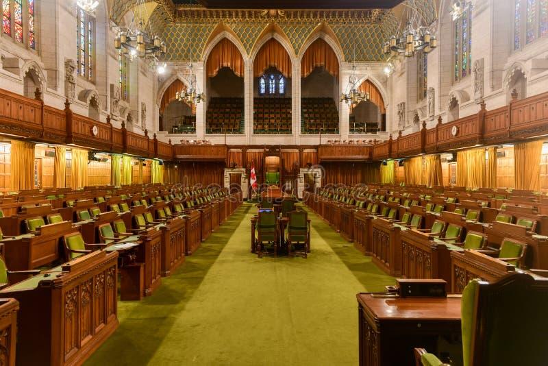 Izba Gmin parlamentu budynek - Ottawa, Kanada zdjęcie stock
