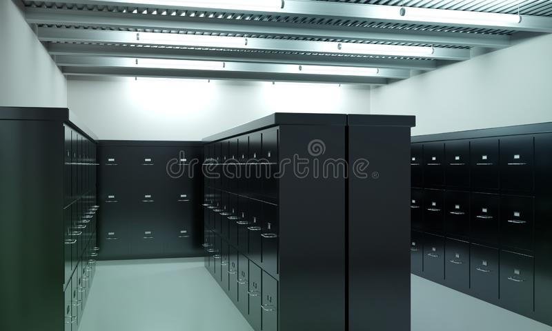 Izbowy pełny segregowanie gabinety obrazy stock
