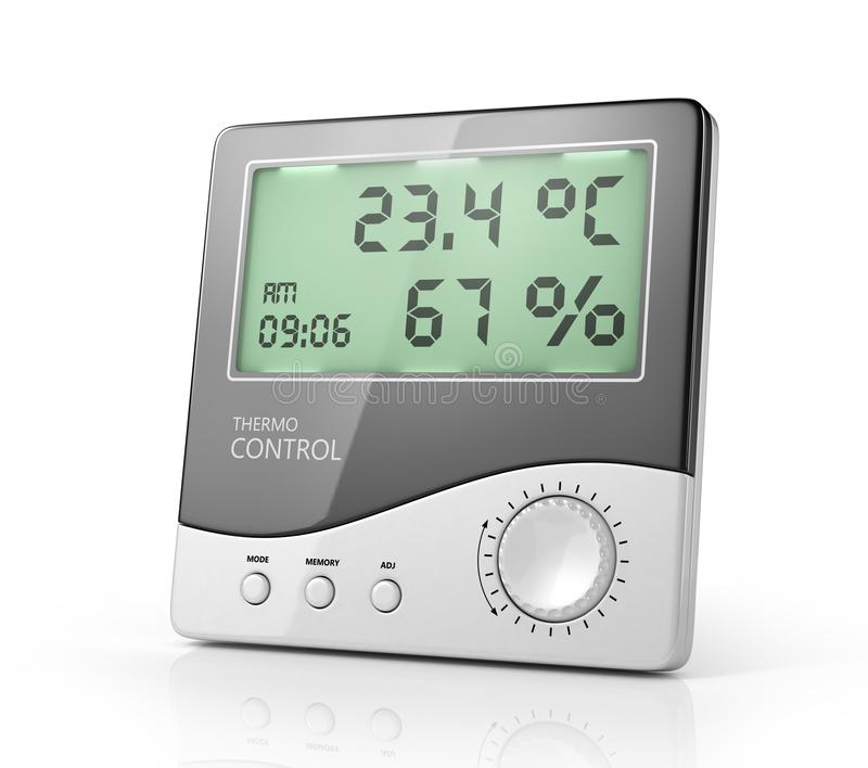Izbowy termometru odosobnienie na bielu ilustracja wektor