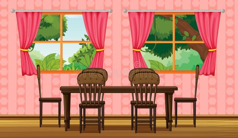 Izbowy wnętrze ilustracji