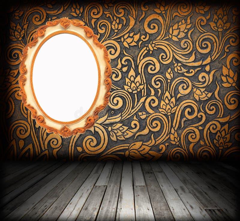 Izbowy wnętrze - drewniana rocznik podłoga fotografia royalty free