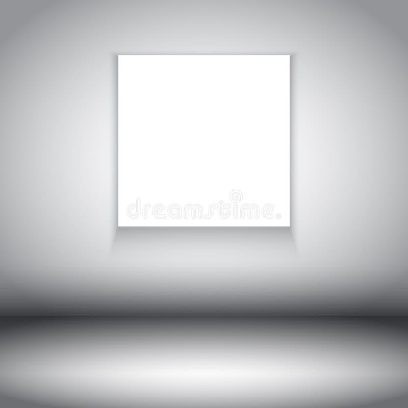Izbowy wnętrze z pustą kanwą ilustracji