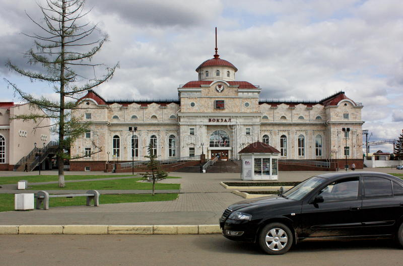 Izhevsk, station royalty-vrije stock afbeelding