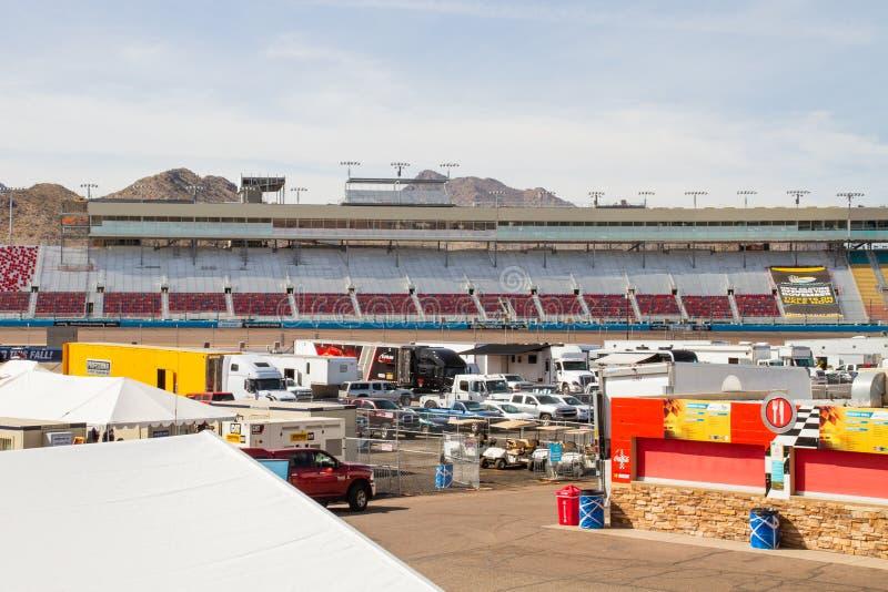 IZM młynówka Phoenix Nascar i IndyCar - obraz royalty free