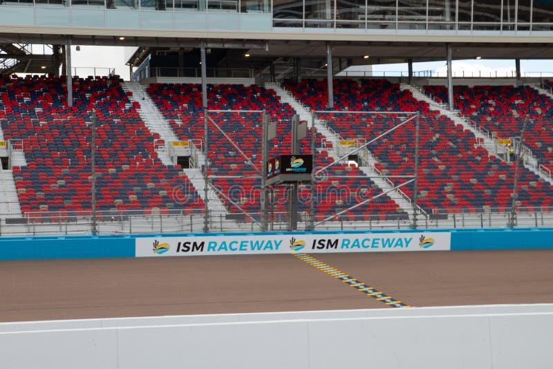 IZM młynówka Phoenix Nascar i IndyCar - zdjęcia stock
