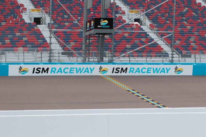 IZM młynówka Phoenix Nascar i IndyCar - obraz stock