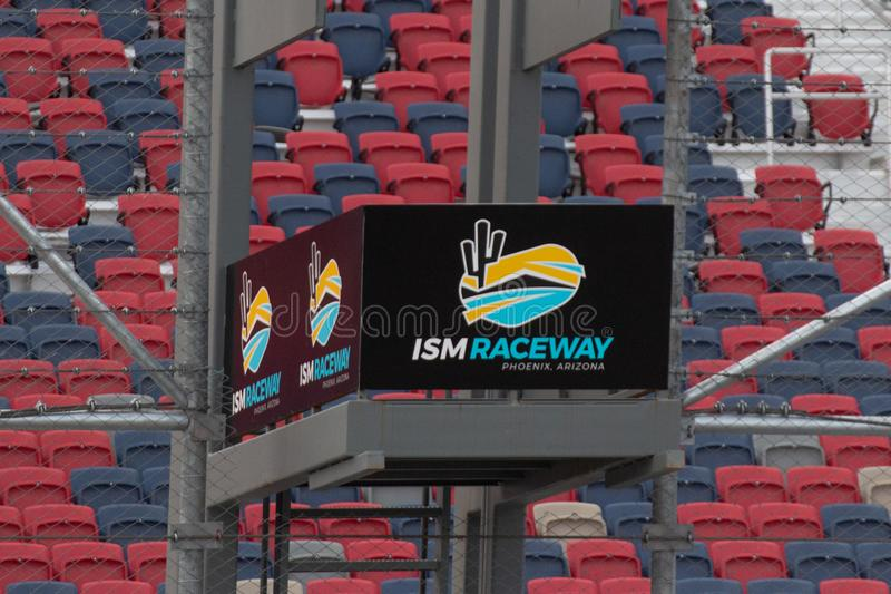 IZM młynówka Phoenix Nascar i IndyCar - zdjęcie stock