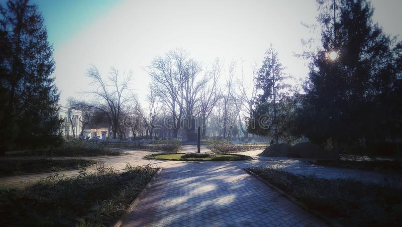 Izmail, Ukraine. Afternoon walk in the city royalty free stock images