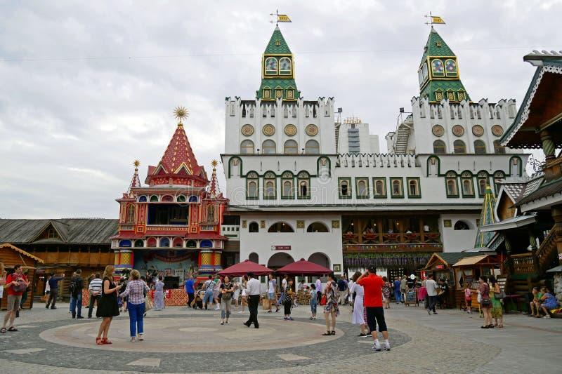 Izmailovo el Kremlin en Moscú, Rusia imagen de archivo libre de regalías