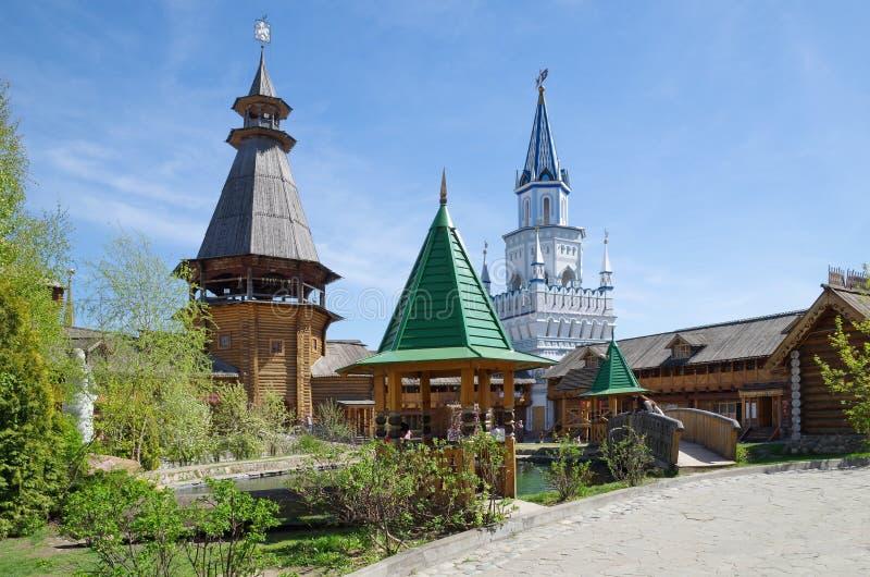 Izmailovo el Kremlin, Moscú, Rusia fotografía de archivo