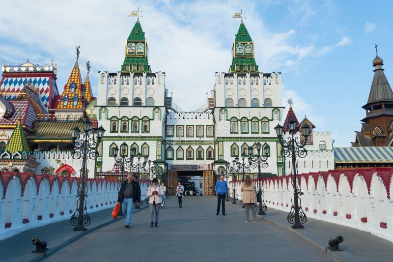 Izmailovo Kremlin central entrance in Moscow 17.10.2019 stock photography