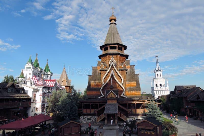 Izmailovo Kremlin em Moscovo foto de stock