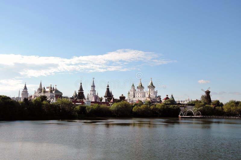 Izmailovo Kremlin en Moscú Foto de color foto de archivo libre de regalías