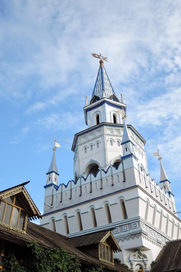 Izmailovo Kremlin en Moscú Foto de color imágenes de archivo libres de regalías
