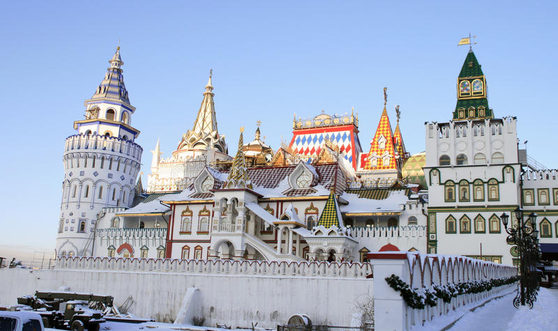 izmailovo Kremlin Moscow zdjęcie royalty free