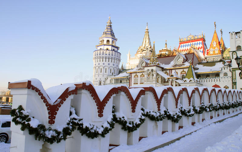 izmailovo kremlin moscow стоковое изображение