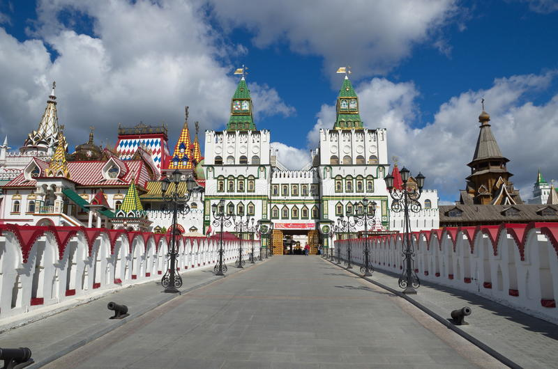 The Izmailovo Kremlin, Moscow, Russia royalty free stock image